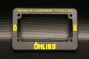 Ohlins License Plate Frame
